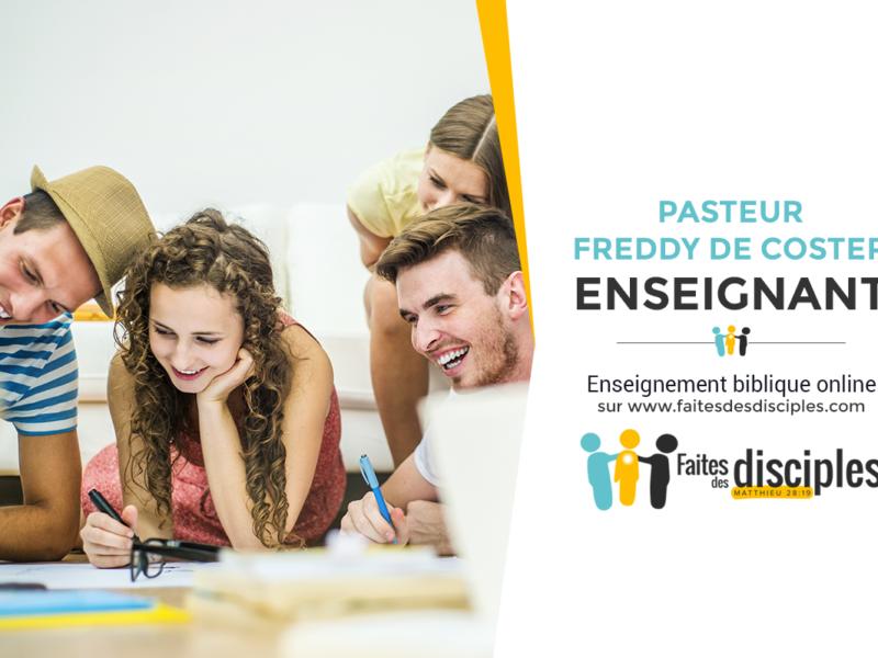 Freddy De Coster Enseignant sur faitesdesdisciples.com